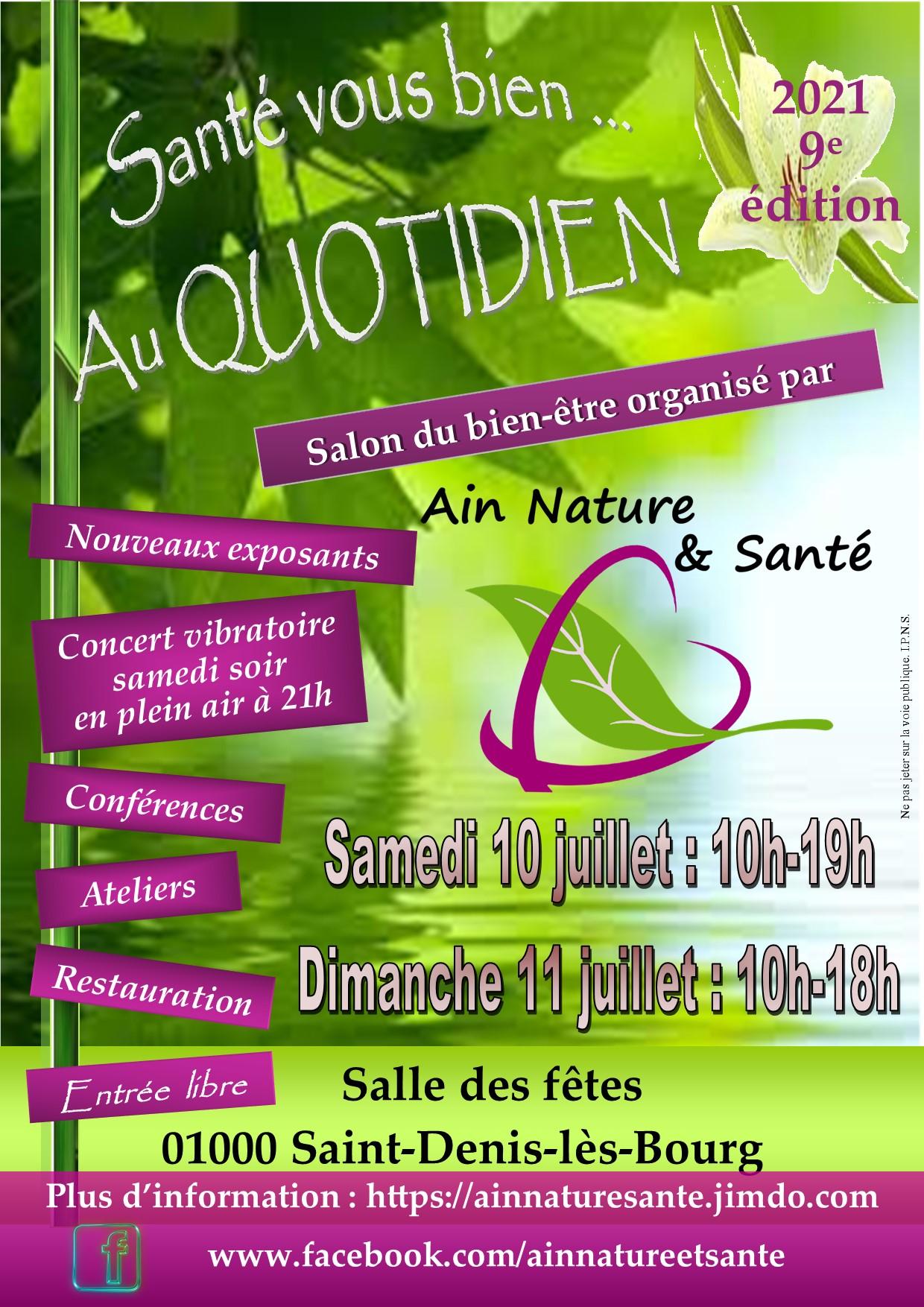 salon Ain Nature & Santé juillet 2021 (Ain)
